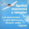 Lot samolotem z pamiątkowym filmem video - Rybnik